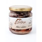 Anchoas de Cetara saladas. Delfino
