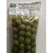 Olive verdi dolci in salamoia - Busta 500 Gr.