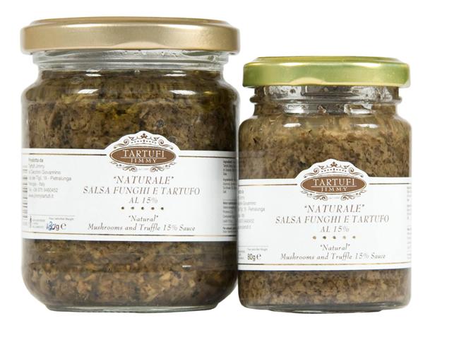 Natural salsa de setas y de tartufo al 15%
