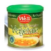 Caldo de verduras org�nicas granular sin glutamato, grasas y rica en extractos de plantas enteras de la levadura y  jugo de zanahoria esta�o litografiado con cierre