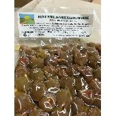 Aceitunas verdes sicilianas Nocellara del Belice en salmuera condimentadas - Az. Agricola Melia