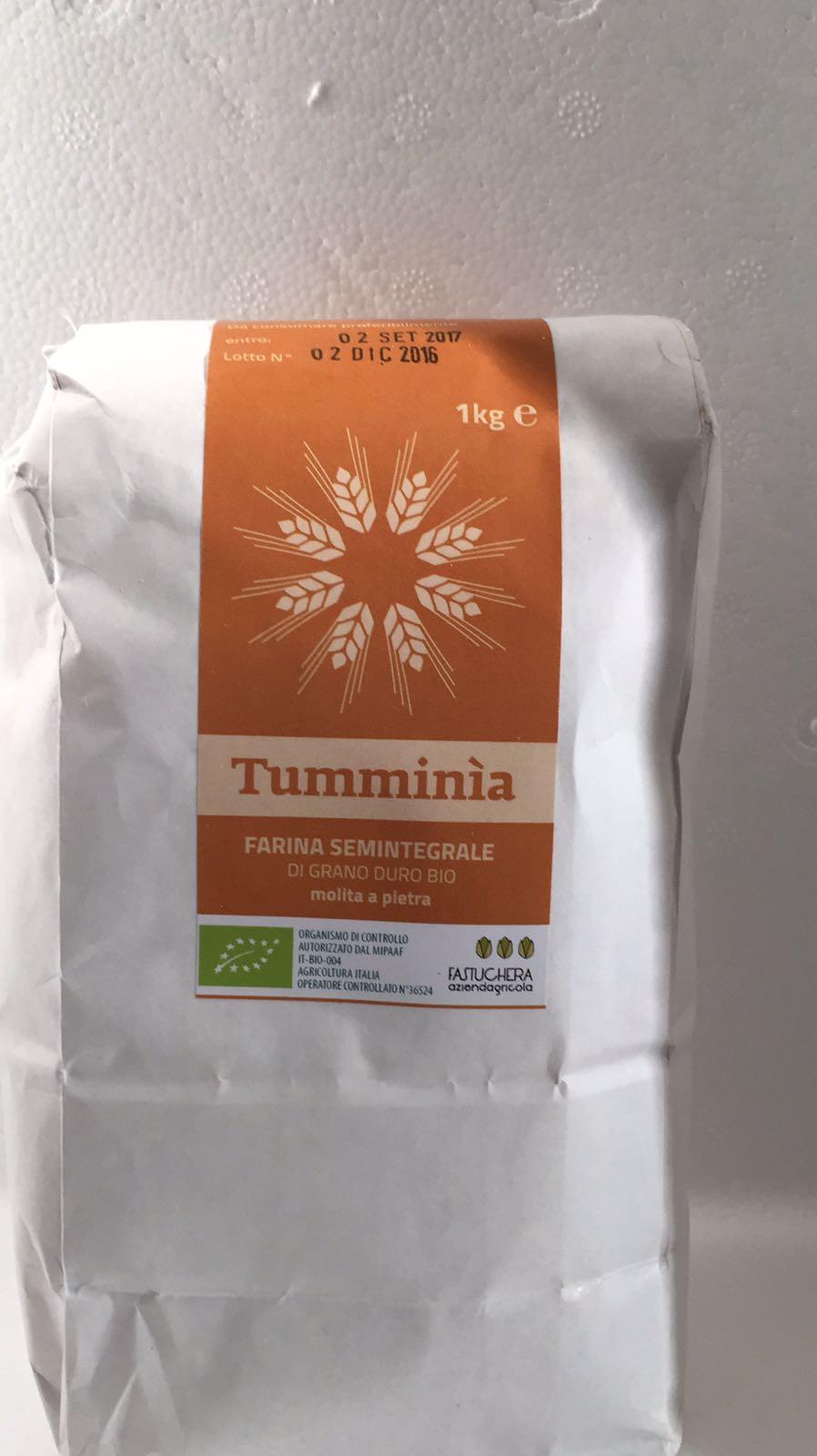 Tumminia Harina Biológico Semi Molita en Pietra -. Az Agricola Fastuchera