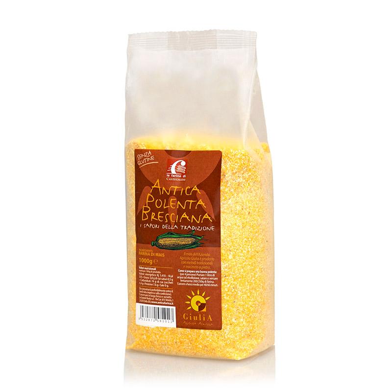 Harina de maíz antigua polenta bresciana - Azienda Agricola Giulia