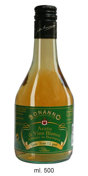 ACETO DI VINO BIANCO 7,5% AFFINATO 2 ANNI IN BARRIQUE - Baglio Sansone