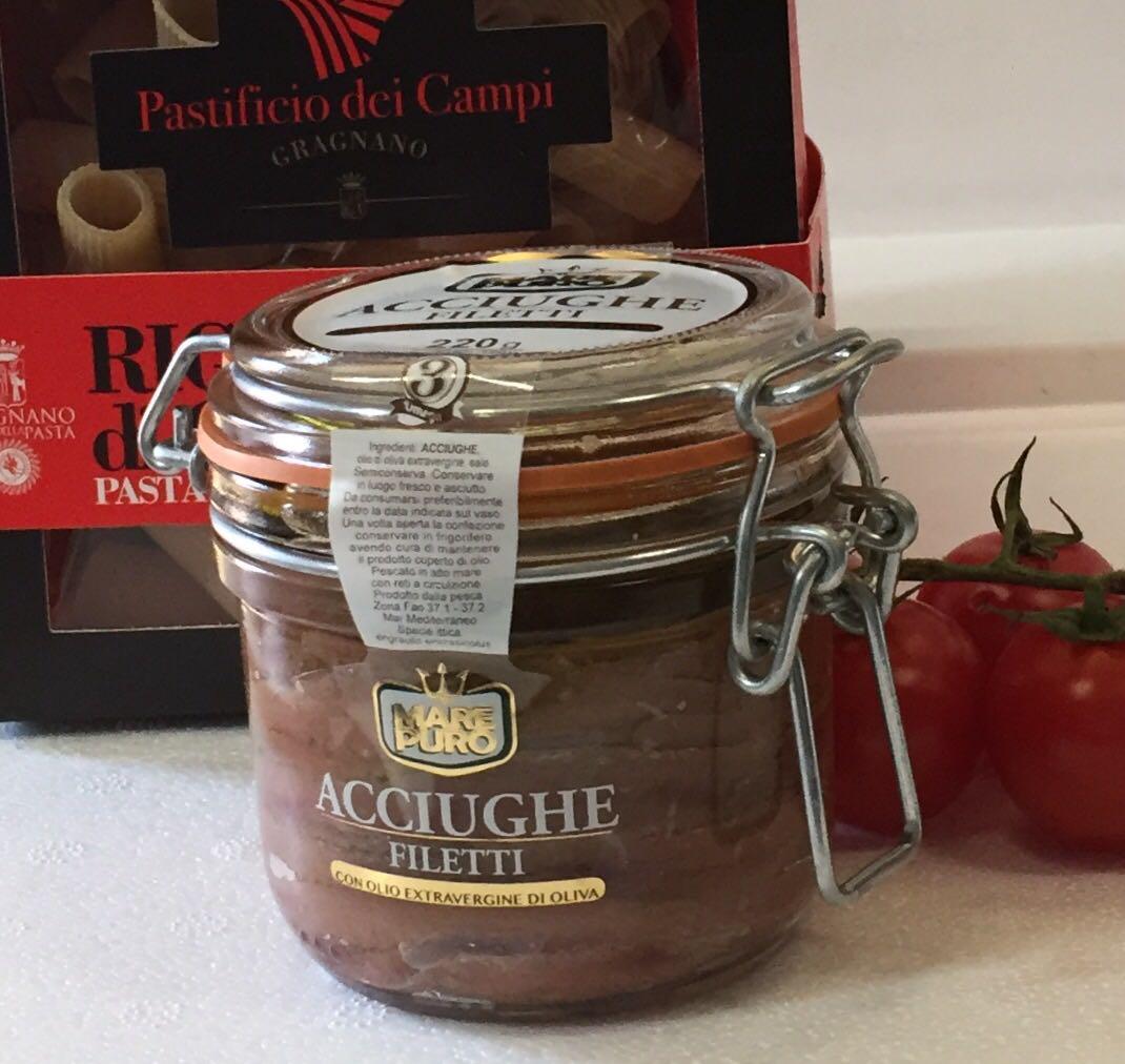 Filetes de anchoa en aceite extra aceite de oliva virgen extra - Mare Puro