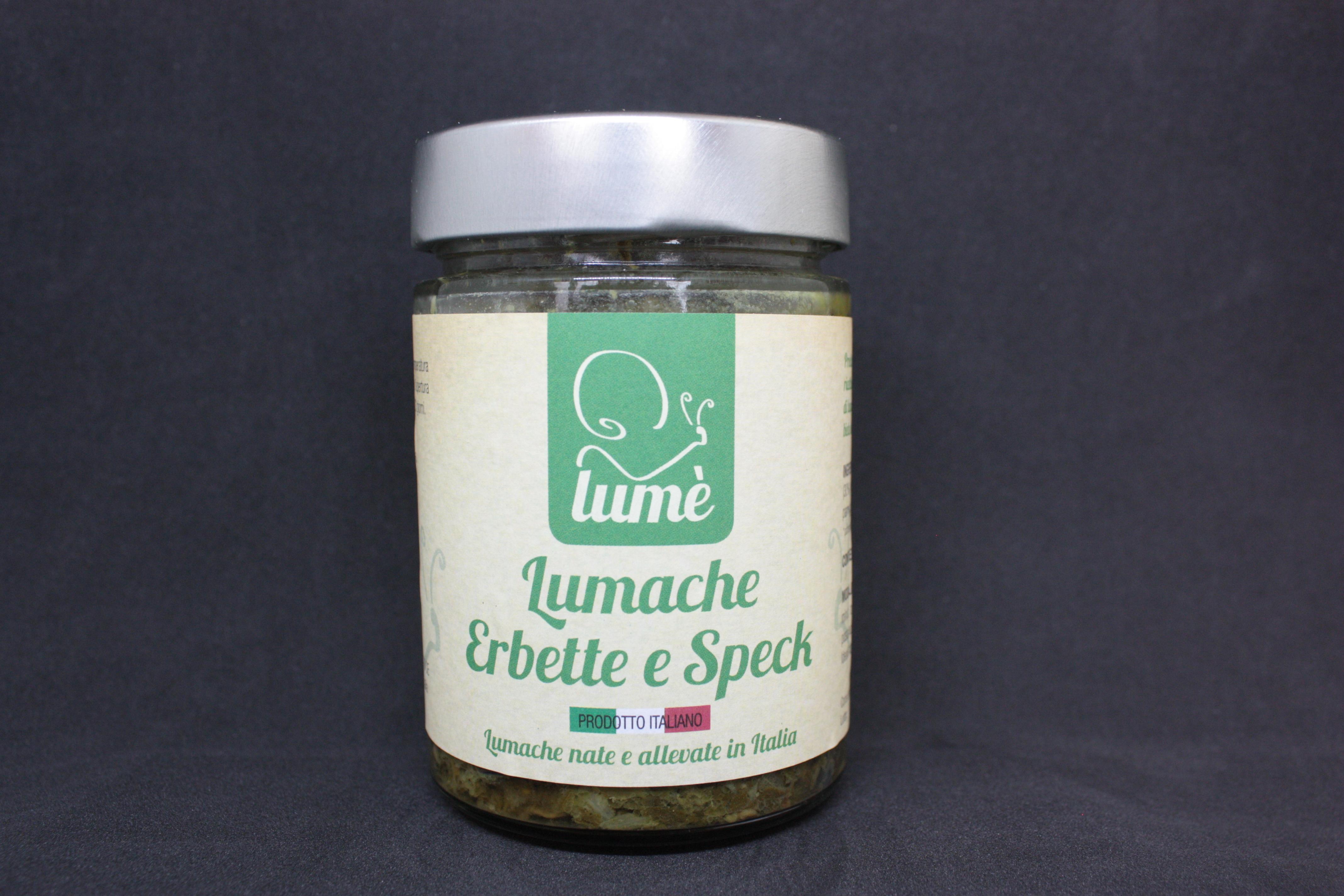 Caracoles con hierbas y e speck - Lumé