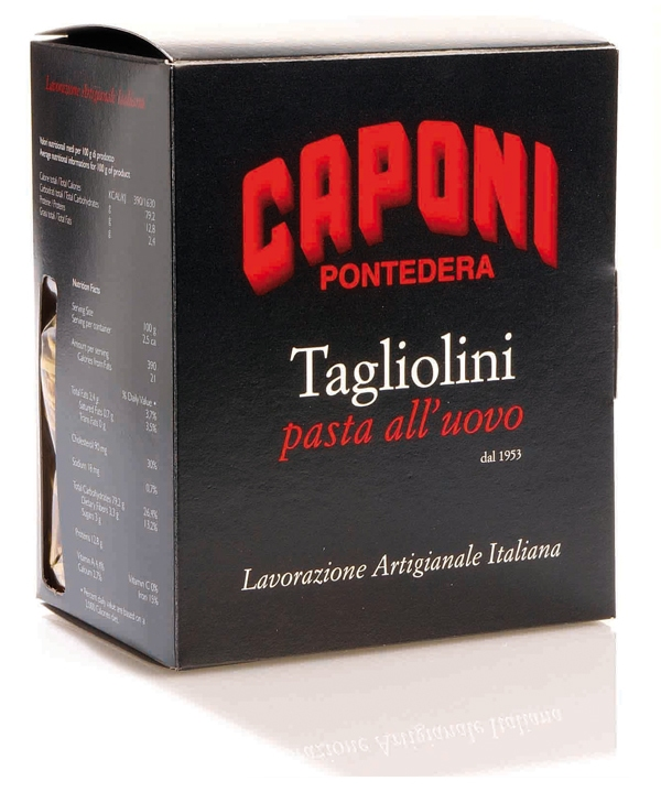Tagliolini al huevo con tartufo Caponi
