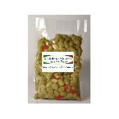 Aceitunas verdes machacadas con Calabrese - Calabria Scerra